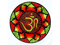Full blacklight Aum Mandala Patch Cosmic Music Goa Trance Festival OM