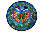 Butterfly mandala Patch rainbow beautiful blacklight active