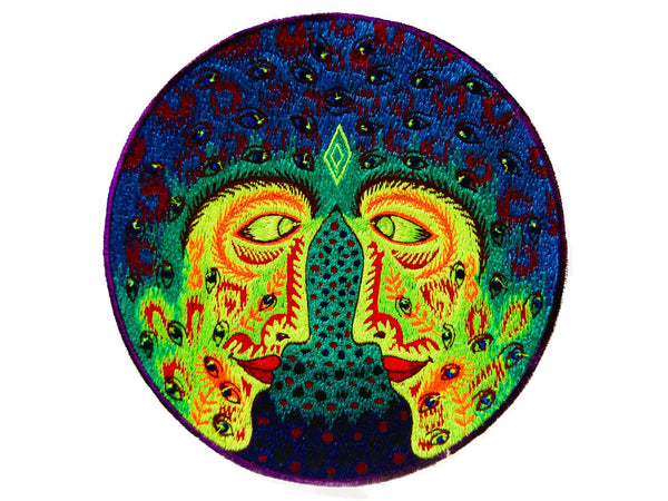 Psychedelic love blacklight embroidery Patch cosmic LSD consciousness