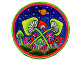 Glowing magic mushrooms Patch blacklight Psychedelic Psilocybin Shroom