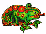 chameleon medium size patch blacklight active colourful