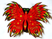 fire butterfly patch medium size blacklight active goa hippie
