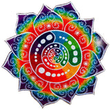 Attributes crop circle T-Shirt rainbow fractal mandala blacklight handmade embroidery no print goa t-shirt