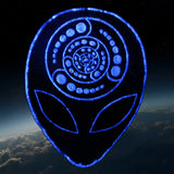 Silver Alien crop circle patch Attributes