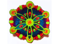 windmill crop circle small patch blacklight active flower of life red