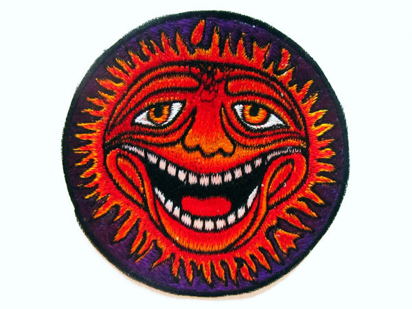 Happy Face small patch Psychedelic Goa Hippie
