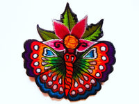 flower butterfly patch small size rainbow goa trance beautiful lotus