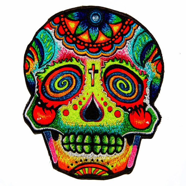 Mirror Skull Patch psy patch psychedelic dead