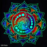 Attributes crop circle T-Shirt rainbow mandala blacklight handmade embroidery no print goa t-shirt