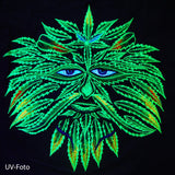 Weed Spirit women top weed cannabis shirt marihuana psilos psychedelic no print goa t-shirt blacklight active