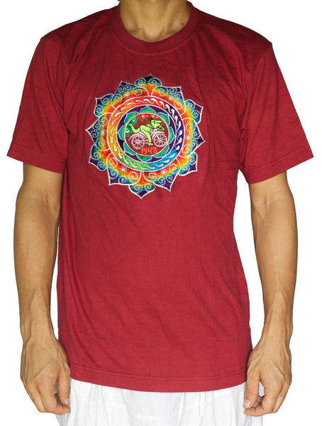 LSD caleidoscope T-Shirt - Hofmann Bicycle Day mandala blacklight psychedelic embroidery no print goa t-shirt