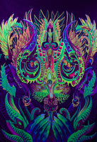 Ayahuasca Spirit UV Painting - handmade on order blacklight active psychedelic dmt yage multiple sizes