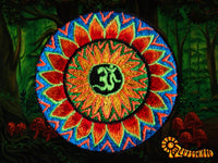 flower aum patch small size cosmic music goa india