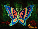 blue butterfly patch small size beautiful