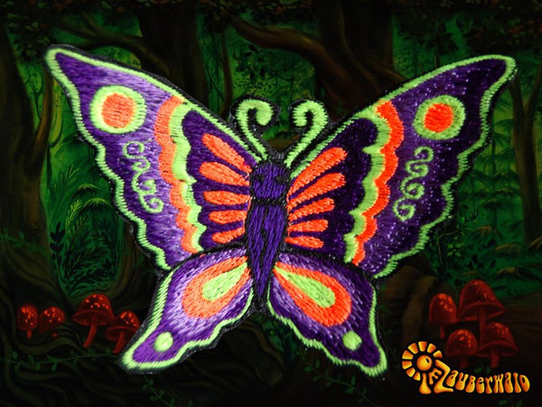 purple butterfly patch small size beautiful