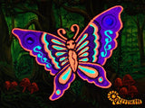purple mirror butterfly patch small size beautiful