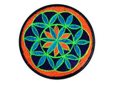 seed of life medium patch small size blacklight active crop circle