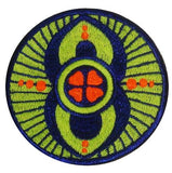 good luck crop circle patch - alien art - blacklight - glowing colours