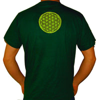 Maya Sun crop circle T-Shirt fractal flower of life blacklight handmade embroidery no print goa t-shirt