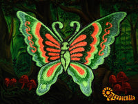 green orange butterfly patch small size beautiful