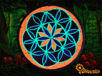 seed of life patch small size blacklight active crop circle