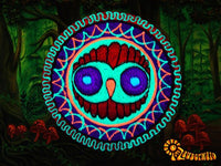 wise owl crop circle patch - alien art - blacklight - fractal flower - mystery