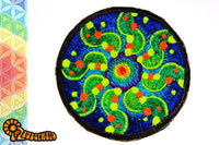 tidcombe crop circle medium patch - alien art - blacklight - fractal flower - mystery - holy geometry