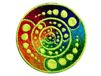 attributes crop circle medium patch - alien art - blacklight - glowing colours - free energy machine design