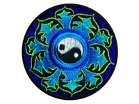 Ying Yang Small Patch taoism balance peace symbol with mandala