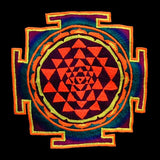 Shri Yantra T-Shirt - sacred healing yantra from india handmade embroidery no print