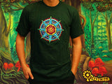 Seed of Life Star T-Shirt - sacred healing geometry seed of flower of life crop circle handmade embroidery no print