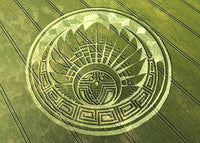 Quetzalcoatl 2012 T-Shirt - sacred healing geometry crop circle handmade embroidery no print