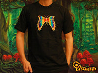 Human Butterfly T-Shirt - crop circle design handmade embroidery no print