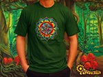 LSD consciousness T-Shirt - visonary mandala handmade embroidery no print