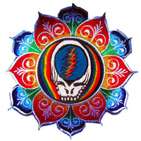 Grateful Dead rainbow mandala Patch psy patch blacklight active LSD psychedelic skull