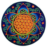 Flower of Life caleidoscope crop circle mandala holy fractal geometry patch sacred art divine healing
