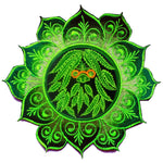 Hippie mandala patch flower marihuana cannabis ganja THC spirit