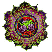 Hofmann LSD Mandala Bicycle Day blacklight purple Patch 1943 Psychedelic Fractal Acid Trip Goa Hippie Visionary Medicine Divine Healing