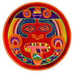 Hofmann 2012 LSD red Maya patch cult design with variations