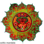Hofmann 2012 mandala patch LSD red Maya  cult design