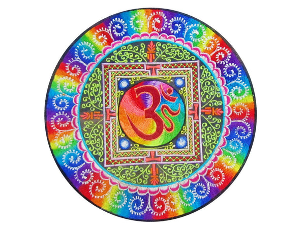 Rainbow AUM Mandala Patch