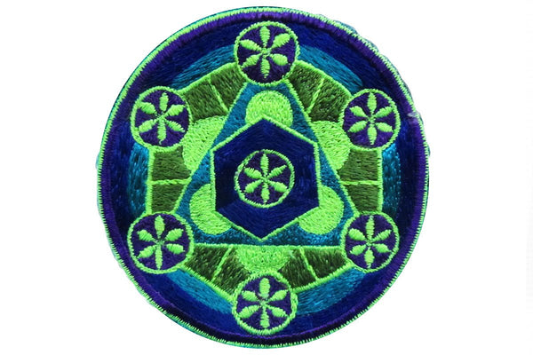 sacred geometry - patch - element aether flower of life blacklight active