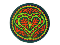ayahuasca snake heart patch blacklight active shipibo indigene DMT artwork