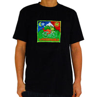 Wonderchild LSD T-Shirt Hofmann Bicycle Day blacklight handmade embroidery no print goa t-shirt