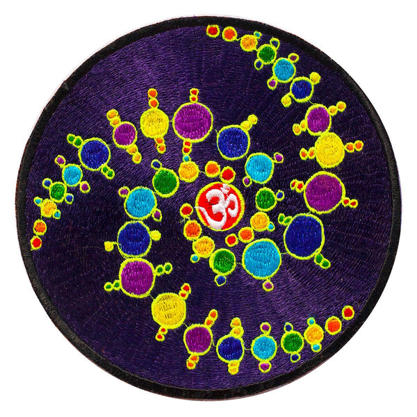 fractal aum crop circle patch caleidoscope blacklight active with variation