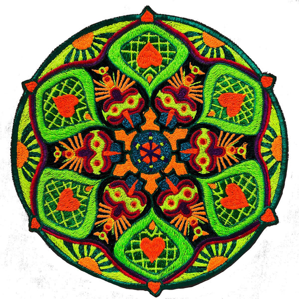 Sunrise Heart Mandala Patch