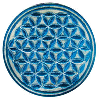green flower of life patch small size
