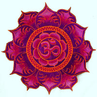 Blue Aum Mandala Patch Cosmic Music Goa Trance Festival Party