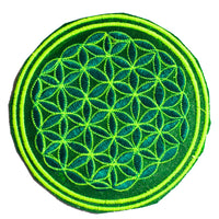 golden flower of life patch small size with variations