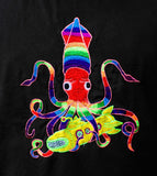 Yellow Submarine T-Shirt - The Beatles Squid Timothy Leary LSD blacklight handmade osy embroidery no print flower of life on backside goa